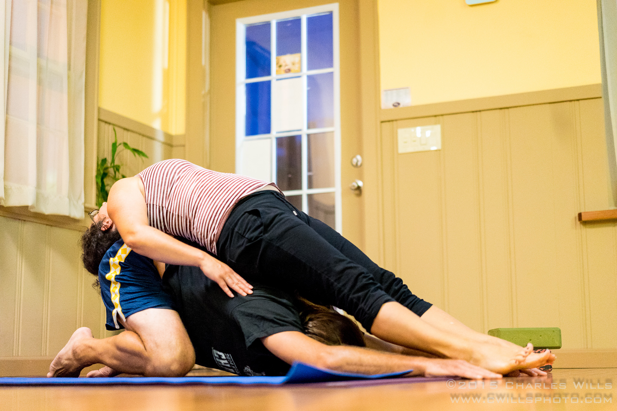 Child's pose and modified backbend