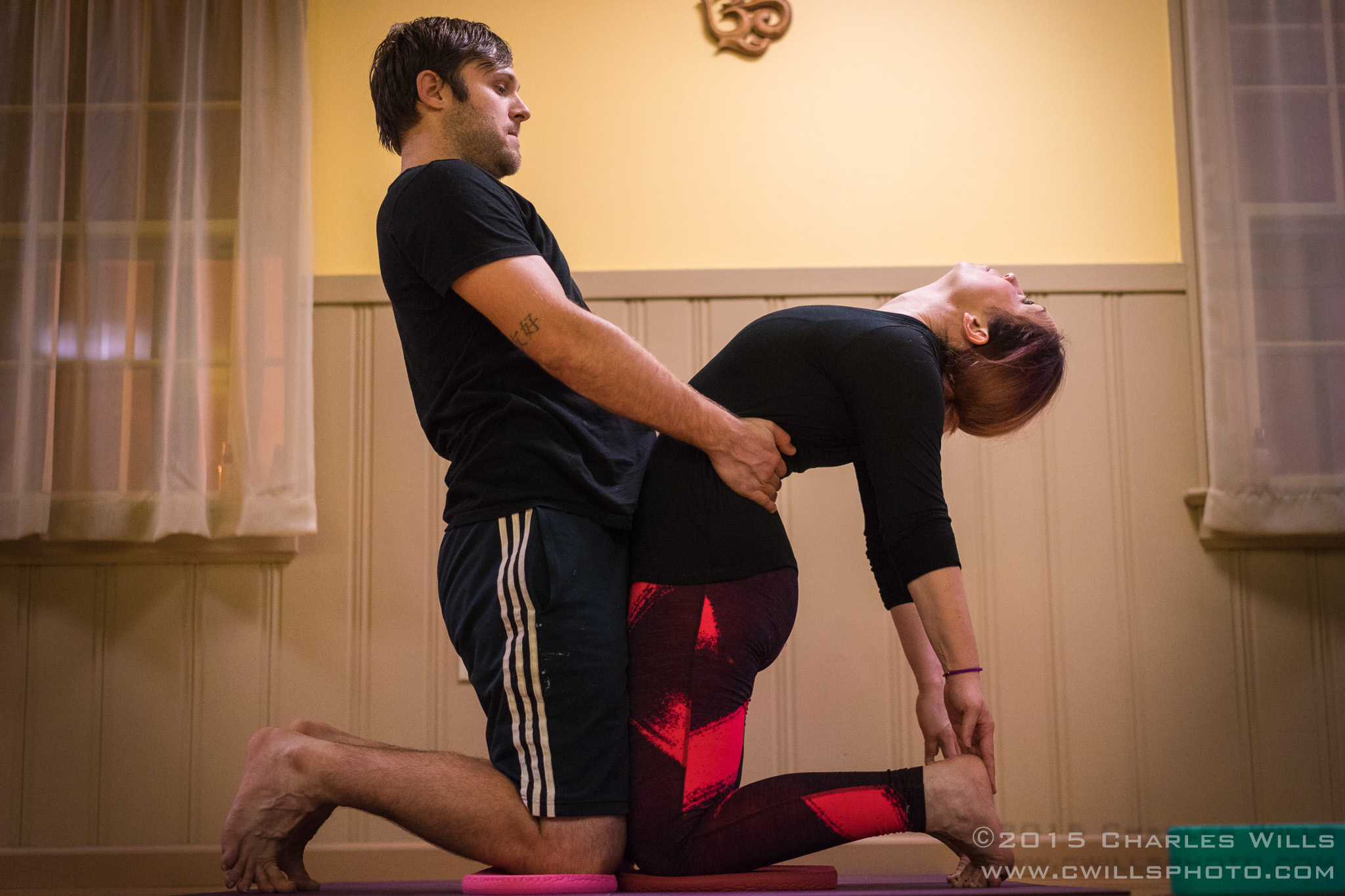 assisted camel pose
